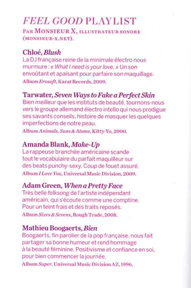 Playlist Feel Good / Mag Psychologie 2013