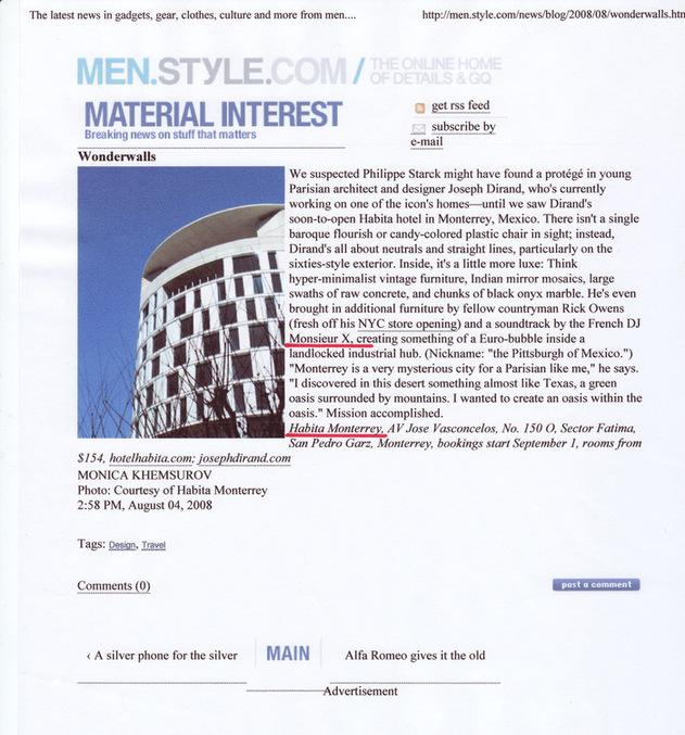 MEN STYLE.COM / AOUT 2008