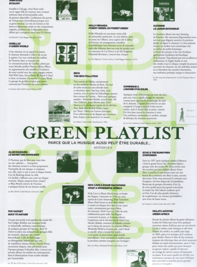 Code d'Acces / Playlist Green 2010