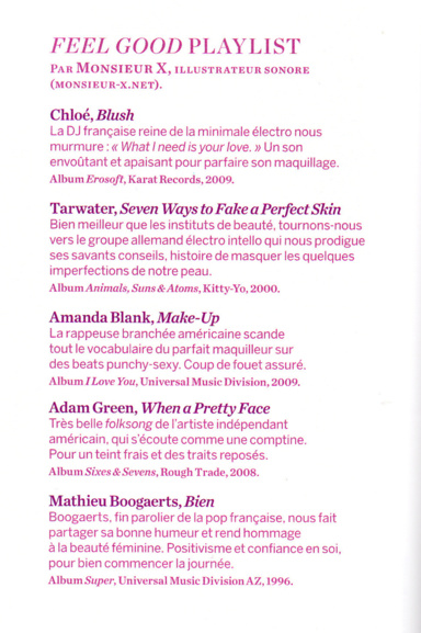 Playlist Feel Good / Mag Psychologie 2013