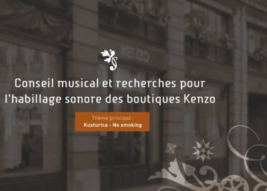 Habillage Sonore Boutiques Kenzo 2005